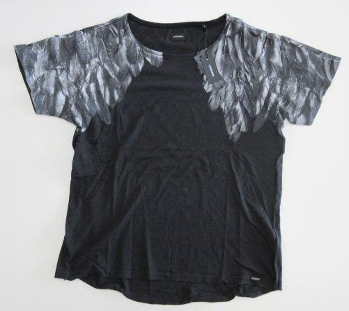 メンズ ディーゼル バックプリント Tシャツ ダークグレー M