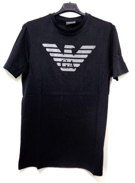 メンズ エンポリオ アルマーニ バックプリント Tシャツ ブラック L