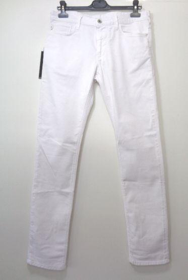 メンズ エンポリオ アルマーニ スリム フィット パンツ ホワイト 31