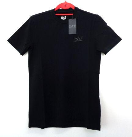 メンズ エンポリオ アルマーニ ワンポイント Tシャツ ブラック S