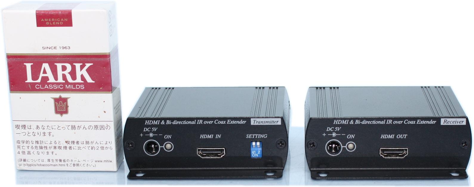 【SA-51149】HDMIエクステンダ-(HDMI延長器)HDMI - 同軸(100mまで)- HDMI TX+RXセット