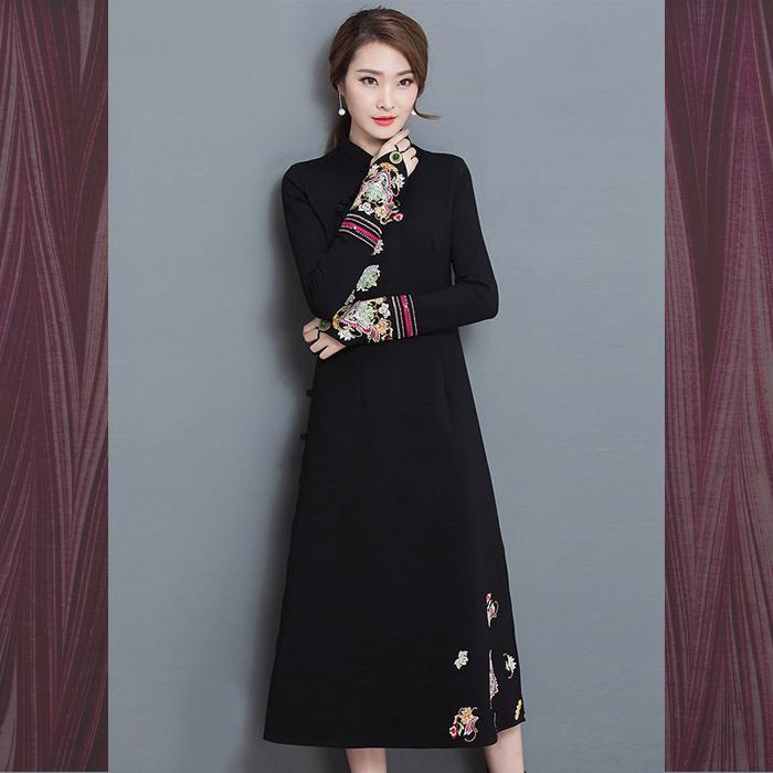 tubakiyacrafts   Rakuten Global Market: Race dress / Chinese / black ...