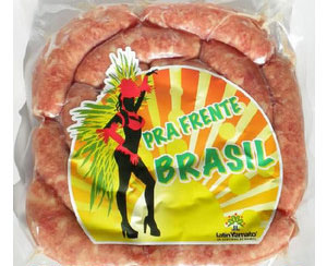 ブラジリアンBBQに最適 塩こしょうのシンプルな味付けが後を引くおいしさ 生ソーセージ フレンテブラジル 14本入 新品未使用 リングイッサ 850g 送料無料新品 冷凍便