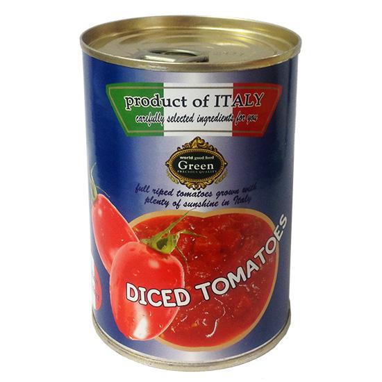 完熟カットトマト 400g (固形量240g) トマト・ジュースづけ(立方体)