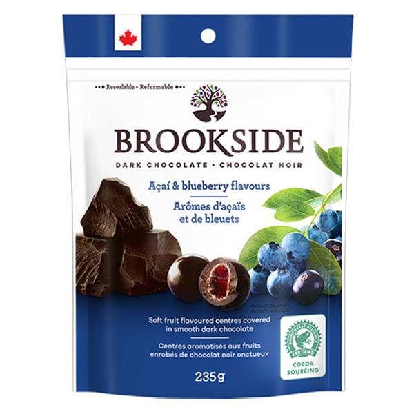 濃縮果汁粒をチョコレートでコーティング ブルックサイドダークチョコレート アサイー ブルーベリー 235g BROOKSIDE セールSALE%OFF 超安い CHOCOLATE