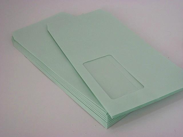 長3窓付(中身が見えない) プラテクトグリーン80g/枠なし 1,000枚