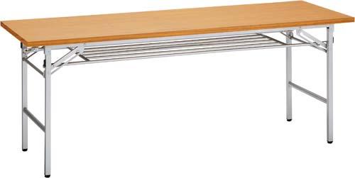 【送料・組立・設置が無料】-(VT-206-T)折りたたみテーブル1800×600チーク10台以上 株式会社トーカイスクリーンkaf006049 -【お買い得商品】
