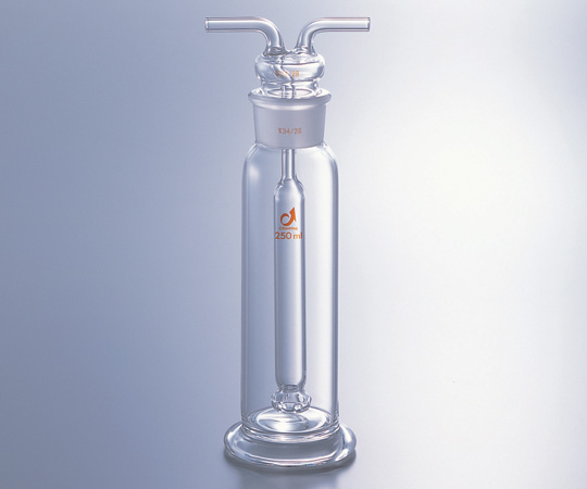 ★ポイント最大14倍★【全国配送可】-ガス洗浄瓶(ムインケ式) 250mL クライミング 型番0454-02-10  JAN4573310033465 aso1-9544-02 -【研究用機器】