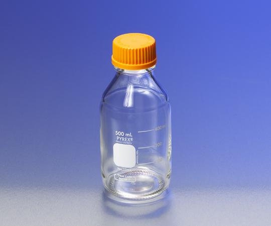 いまだけ!★ポイント最大15倍★【全国配送可】-メディウム瓶(PYREX(R)オレンジキャップ付き) 透明 5000mL PYREX 型番 1395-5L aso 1-4994-08 -【医療・研究機器】
