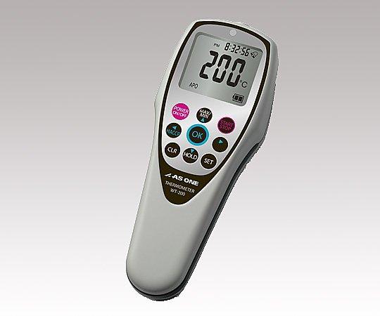 いまだけ!★ポイント最大15倍★【全国配送可】-防水デジタル温度計 WT-200 HACCPアラート機能付 校正証明付き アズワン 型番 WT-200 aso 2-3799-05 -【医療・研究機器】