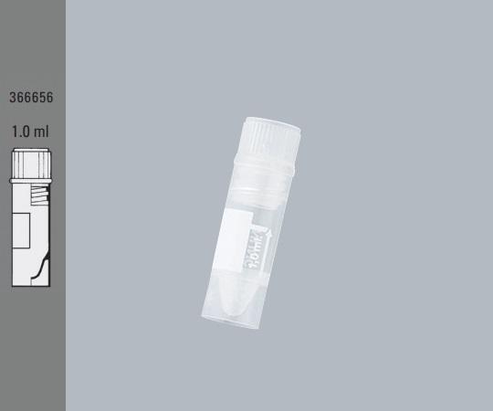 いまだけ!★最大P25倍★ 8/4-8/9【全国配送可】-1mL クライオチューブ(自立型インナーキャップ) 42×φ12.5 500本 サーモフィッシャーサイエンティフィック 型番366656  JAN4589488356718 aso 2-5479-01 -【医療・研究機器】