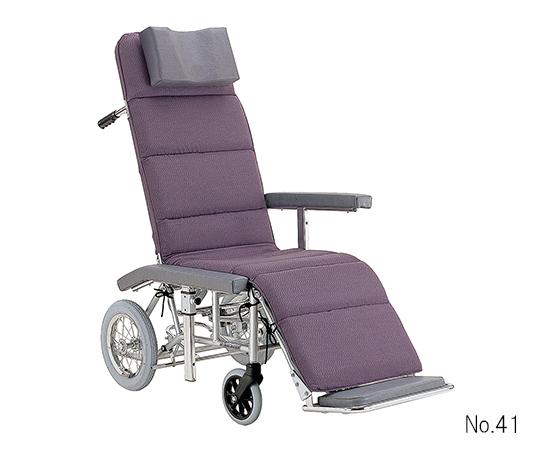 いまだけ!★ポイント最大16倍★【全国配送可】-フルリクライニング車椅子(アルミ製) (ポリエステル座面) カワムラサイクル 型番RR60N No.41  JAN4514133006892 aso 7-2300-01 -【医療・研究機器】