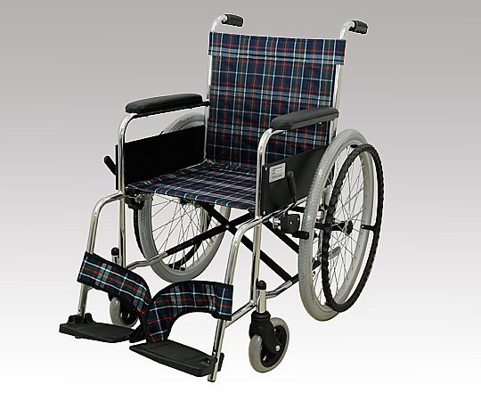いまだけ!★ポイント最大16倍★【全国配送可】-車椅子 (自走式/スチール製/背面ポケット付き) その他 型番MW-22ST-CNV  JAN4582307680193 aso 8-4312-01 -【医療・研究機器】