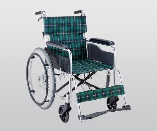 いまだけ!★ポイント最大16倍★【全国配送可】-車椅子(アルミ製・背折れタイプ) 660×995×875 マキライフテック 型番EW-50GN  JAN4968501884603 aso 8-7865-11 -【医療・研究機器】