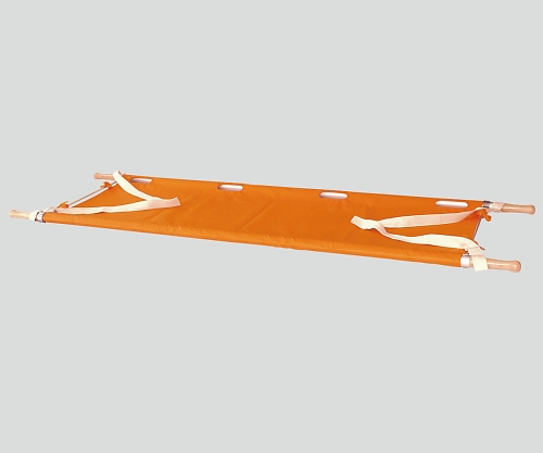 いまだけ!★ポイント最大15倍★【全国配送可】-布担架兼用担架(アルミ製・ターポリン張) オレンジ その他 型番YS-42-A-HT  JAN4560213774274 aso 8-8468-01 -【医療・研究機器】