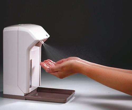 いまだけ!★ポイント最大16倍★【全国配送可】-自動手指消毒器 142×143×255mm ナビス 型番MAD-101  JAN4580110271386 aso 8-8634-01 -【医療・研究機器】