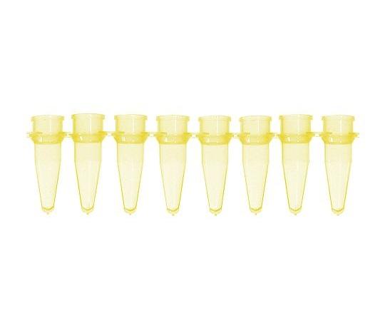 ★ポイント最大16倍★【全国配送可】-PCRチューブ 8連0.2mL 黄 125本入 Bio Plas 型番 5010-3  JAN 4589638200175 aso 3-8624-03 -【医療・研究機器】