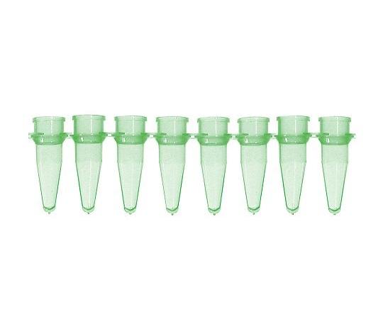 ★ポイント最大16倍★【全国配送可】-PCRチューブ 8連0.2mL 緑 125本入 Bio Plas 型番 5010-5  JAN 4589638200199 aso 3-8624-05 -【医療・研究機器】