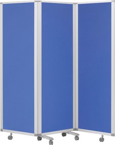 ★ポイント最大16倍★【送料・組立・設置が無料】-(TP3ー1806BN-FFBB)3連スクリーン幅1800mmクロスブルー 株式会社コマイkaf007085 -【お買い得商品】