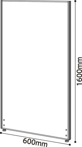 ★ポイント最大16倍★【送料・組立・設置が無料】-(Z-WW21-C)シェルト メラミンパネルWH 高1600幅600 カウネットkaf001556 -【お買い得商品】
