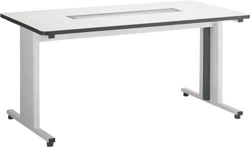 【送料・組立・設置が無料】-(Z-WMTD-1580-WH)CK配線対応テーブル幅1500 ホワイト 株式会社Y2Kkaf002240 -【お買い得商品】