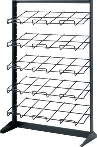 【全国配送可】-(MS-ST567HB)マガジンラック平置タイプ5段 幅700 ブラック 三洋スーパースタンド株式会社kaf000745 -【お買い得商品】
