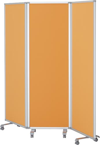 【送料・組立・設置が無料】-(TP3-1806PN-FFOO)3連スクリーン 高1800幅1800クロスオレンジ 株式会社コマイkaf005493 -【お買い得商品】