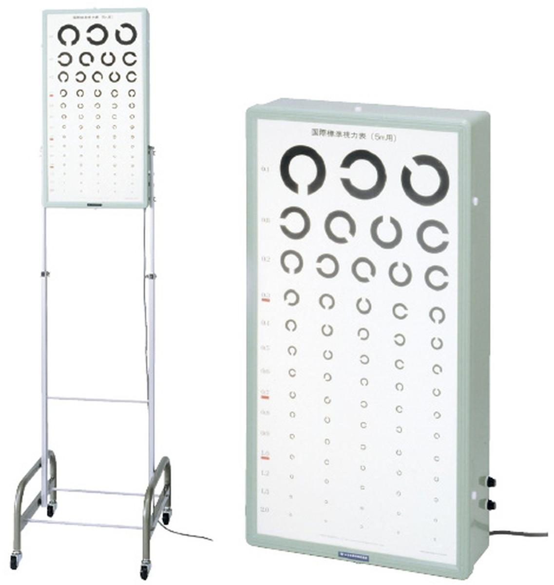 【全国配送可】-試視力表照明装置(壁掛式) 12243(5Mヨウ) 品番 my23-5336-00-- 1入り-【MY医科器機】