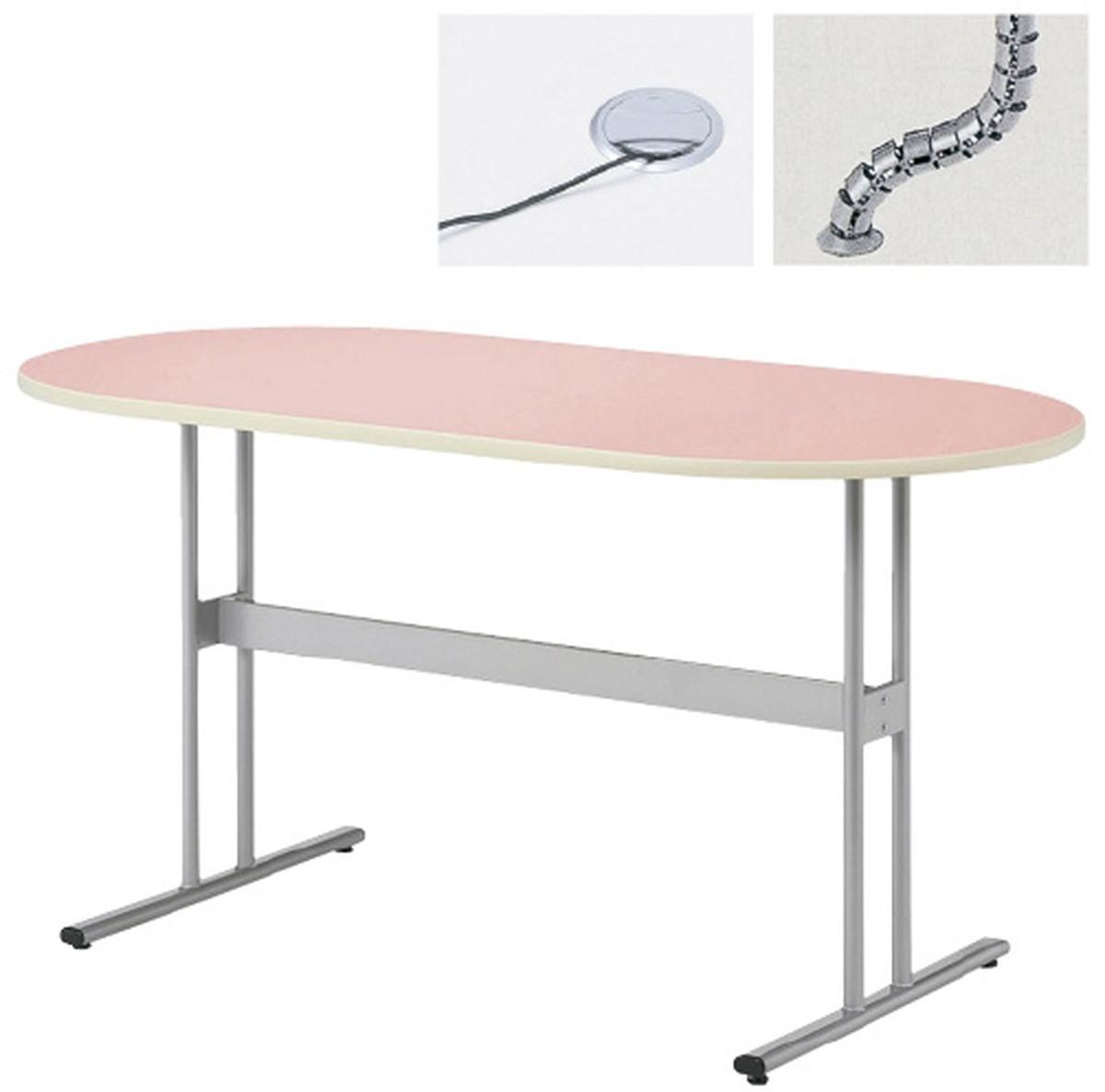 【送料無料】-ナーステーブル(楕円型) NAT-1590R(150X90X90) 品番 my23-6202-0002 1入り-【MY医科器機】