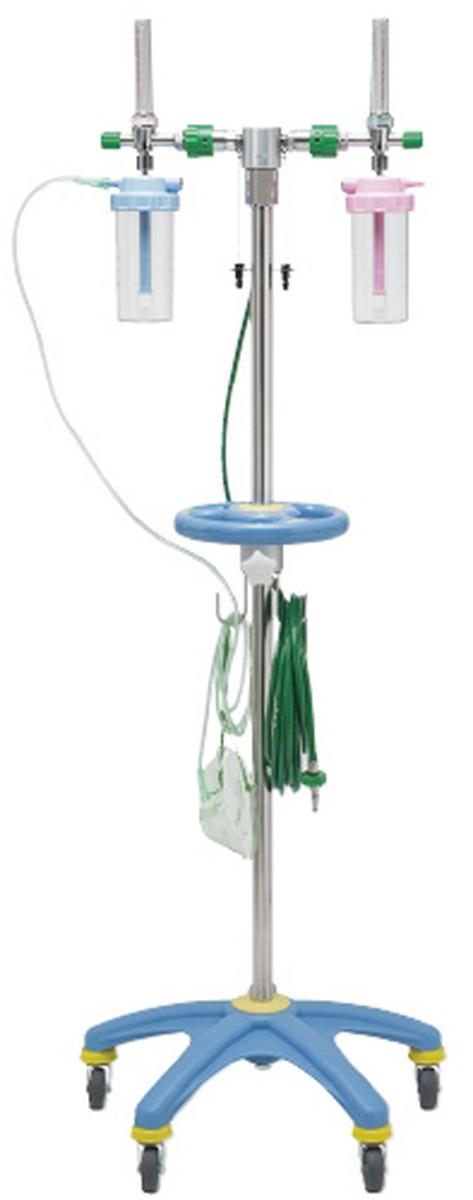 【送料無料】-酸素スタンド(2口用) OXH-200 品番 my24-2273-0101 1入り-【MY医科器機】