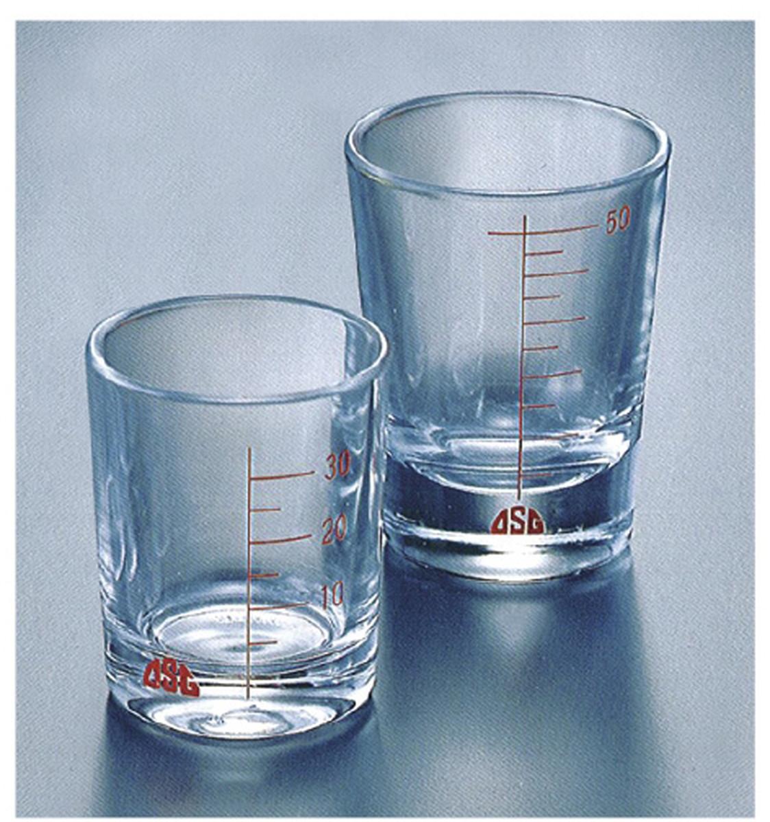 【送料無料】-薬杯(ガラス製) 50ML 品番 my24-2709-01-- 12入り-【MY医科器機】JAN 4963972313195