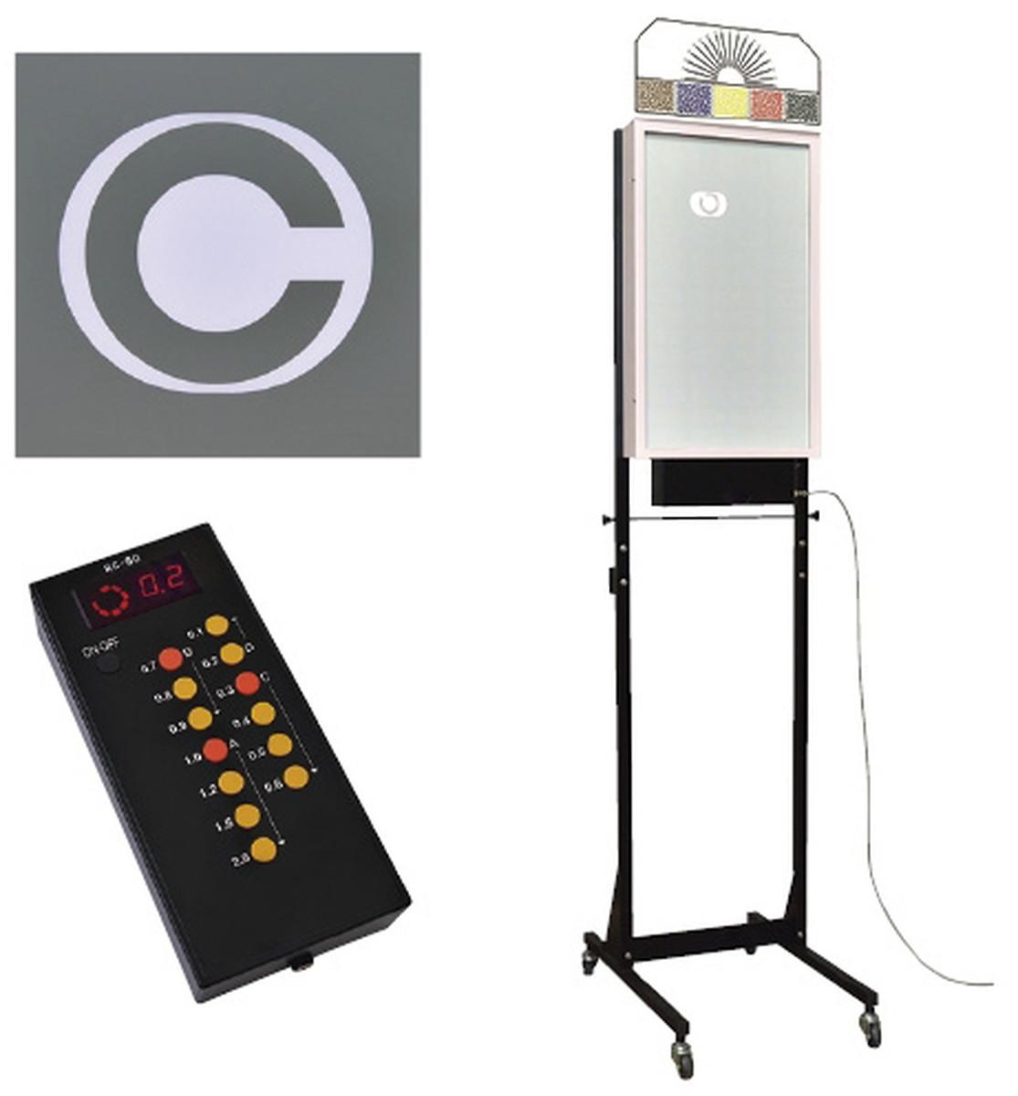 【送料無料】-LED式視力検査器(スタンド式5m用 RC-90A-5(8ホウコウ) 品番 my24-3181-01-- 1入り-【MY医科器機】