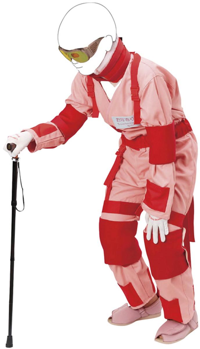 ★ポイント最大16倍★【送料無料】-新お年寄り体験スーツ M176-7(M・ピンク) 品番 my24-6915-01-- 1入り-【MY医科器機】