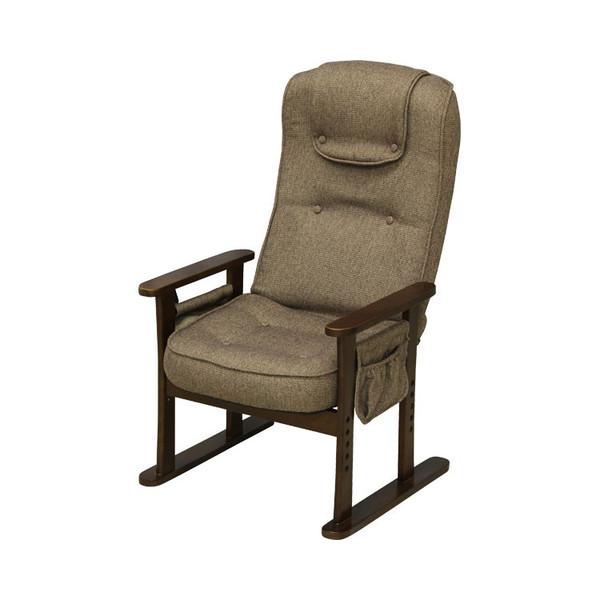 ★ポイント最大15倍★【全国配送可】-高座椅子 ブラウン 大商産業 品番【F-099 BR】メーカー直送品A24567-【代引不可】【介護用品TYA】JAN4980710045101