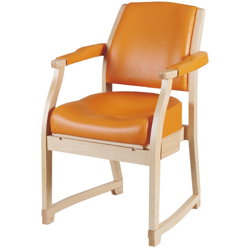 スポッとチェア ナチュラルオレンジ 丸菱工業 品番 SPC-414 A2637111 JAN 4562310174148