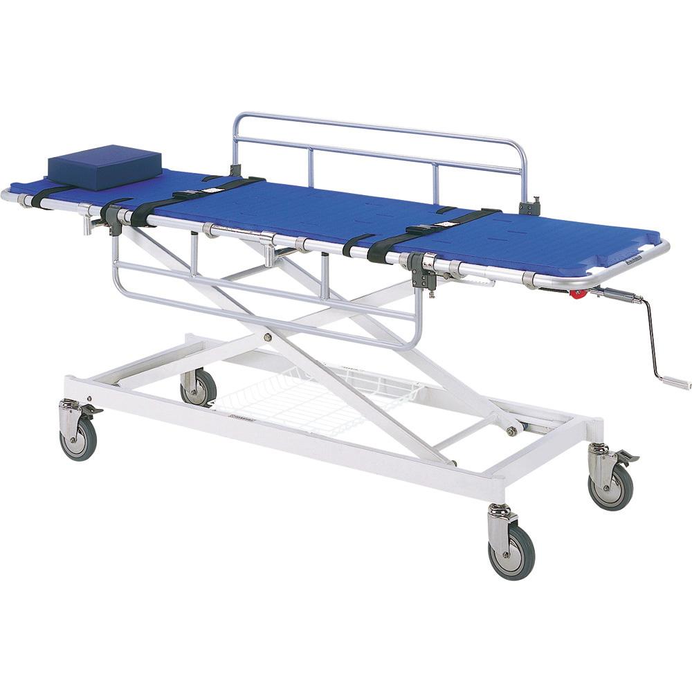 アルミ浴室用ストレッチャー昇降式担架幅55cm Dタイプ 日進医療器 品番 TY217DS550 G01253 JAN 4519856006303