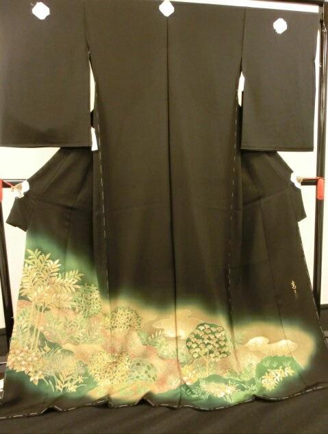 【送料無料】**松井青々(展示品)◇**35018**絹100%*黒留袖