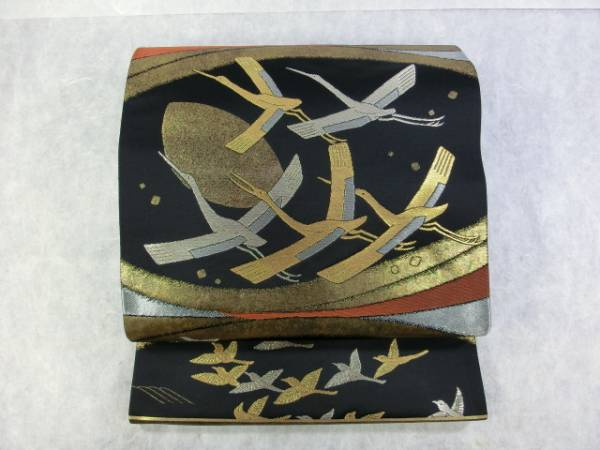 【送料無料】**となみ織物◇大場松魚 袋帯◇(展示品)**15903**絹他 【1】