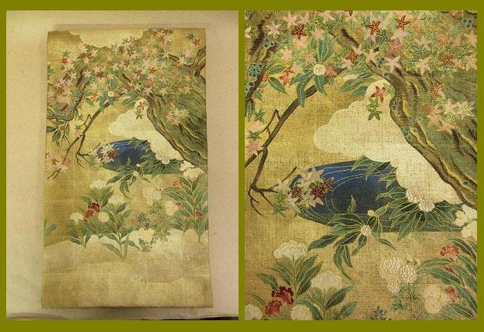 逸品 国宝の美  最高級 袋帯  創作一繍庵  展示品 絹 送料無料