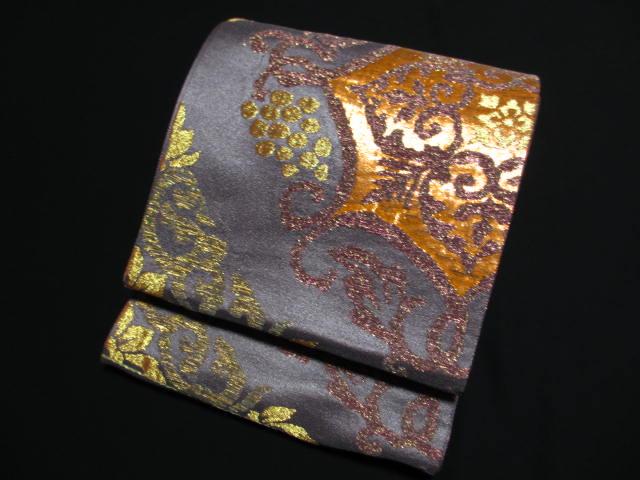 ◎ 西陣織 モダン ◎◎ ブド- 華紋 ◎  高級 袋帯 新品 絹 送料無料