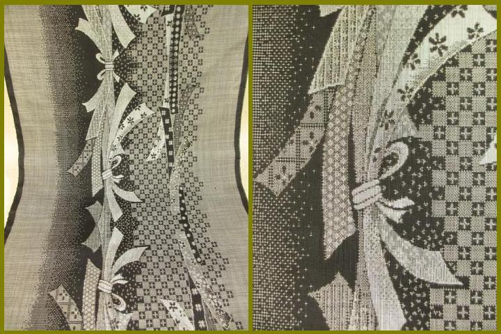 旗印◎特選 本場 大島着尺 12マルキ反物『展示品』 絹100%  送料無料