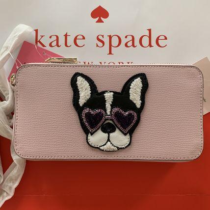 ケイトスペード Kate Spade 可愛いフレンチブルドッグ・フランソワのミニクロスボディバッグ 1点のみ 日本未入荷 ピンク レザー