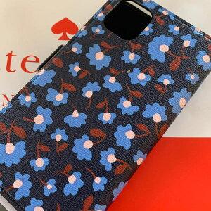 ケイトスペード Kate spade 手帳型と単品使用  パーティーフローラル マグネティック フォリオ iPhone 11 PRO 小花模様 ネイビー系 代引き不可【あす楽対応】