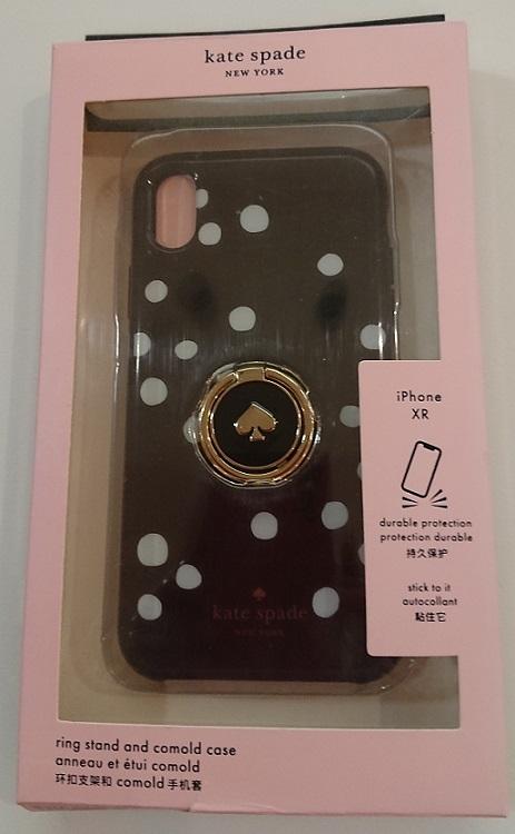 ケイトスペード Kate spade アイフォン ケース Ring Stand Polka Dots Resin iPhone Case XR 代引き不可【あす楽対応】