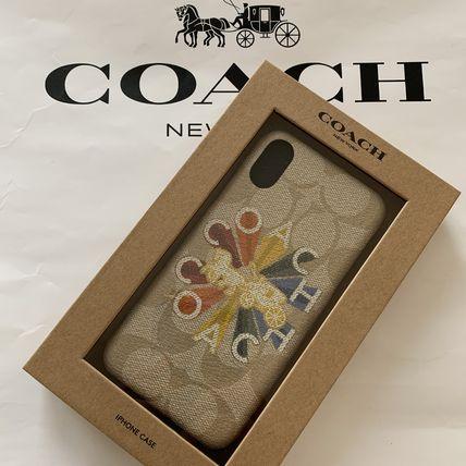 コーチ coach iPhone X/Xs シグネチャー キャンバス ウィズ コーチ ラディアル レインボー【代引き不可】【あす楽対応】
