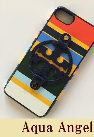 トリーバーチ  TORY BURCH レザー マルチストライプ柄 iPhone8/7対応 アイフォンケース 代引き不可
