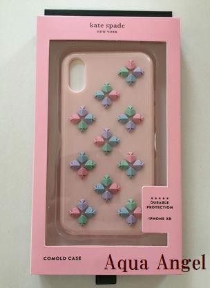 ケイトスペード Kate spade アイフォンケース iphone XR スペード フラワー ピンク 代引き不可【あす楽対応】