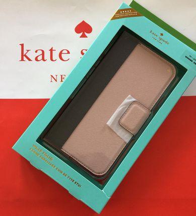 ケイトスペード Kate spade 手帳型 iphone X/Xs ケース カード入れ付き バイカラ ブラック/ベージュ レザー 代引き不可【あす楽対応】