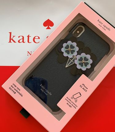 ★ケイトスペード Kate Spade owl applique iphone case Xs Max ふくろうのアップリケ ブルー系【あす楽対応】代引き不可