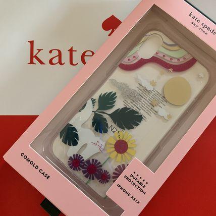 ケイトスペード Kate spade アイフォンケース グリッター ガーデン キャット iPhone X/Xs 可愛い 代引き不可
